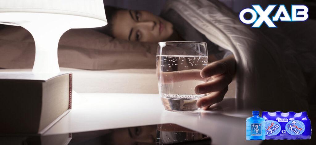 فواید خوردن آب قبل از خواب